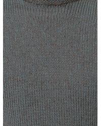 Giorgio Armani | Gray Classic Fitted Sweater for Men | Lyst