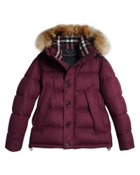 Burberry - Red Padded Jacket for Men - Lyst