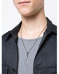 Roman Paul - Metallic Sword Necklace for Men - Lyst