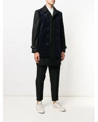Comme des Garçons - Blue Corduroy Panel Coat for Men - Lyst
