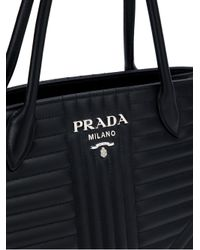 Prada - Black 1ba1652d91vooi F0002 Leather/fur/exotic Skins->calf Leather - Lyst