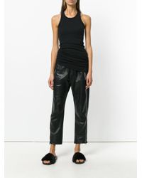 Rick Owens Drkshdw - Black Slim-fit Vest Top - Lyst