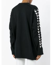 Y. Project - Black Braided Sleeve Jumper - Lyst