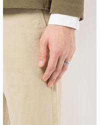 Philippe Audibert - Metallic Etched Detail Ring for Men - Lyst