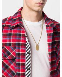 Northskull - Metallic Halskette mit Erkennungsmarke for Men - Lyst