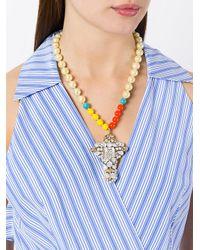 Rada' - Metallic Oversized Pendant Necklace - Lyst