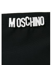 Moschino - Black Logo Plaque Swimming Briefs for Men - Lyst