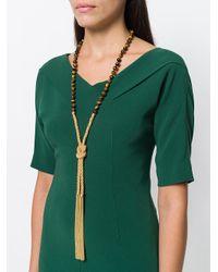 Rosantica - Metallic Hanging Tassel Necklace - Lyst