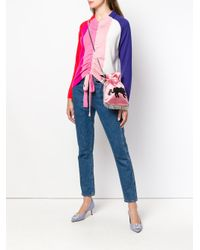 Les Petits Joueurs - Pink Embellished Fringed Crossbody Bag - Lyst