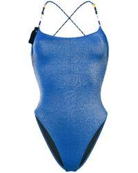Anjuna - Blue Elba Contrast Strap Swimsuit - Lyst