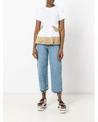 Sacai - White Pleated T-shirt - Lyst