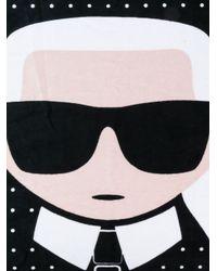 Karl Lagerfeld - Black K/ikonik Towel - Lyst