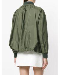 Valentino - Green Puffball Bomber Jacket - Lyst
