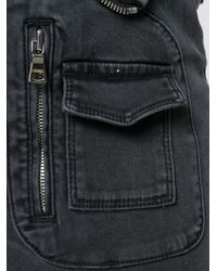 RTA | Gray Zip Detail Skinny Jeans | Lyst