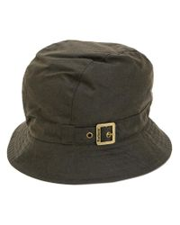 Barbour - Brown Pin Buckle Bucket Hat for Men - Lyst