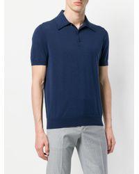 Prada - Blue Classic Polo Shirt for Men - Lyst