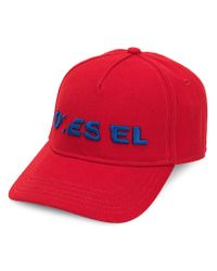 DIESEL - Logo Embroidered Cap for Men - Lyst