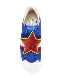 MOA - Blue Donald Duck Star Sneakers for Men - Lyst