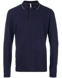 Sun 68 - Blue Fitted Polo Top for Men - Lyst