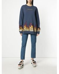 Zoe Karssen - Blue Hot For You Sequinned Sweatshirt - Lyst