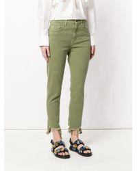MiH Jeans - Green Mimi Distressed Hem Jeans - Lyst