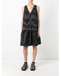 KENZO - Black Flared Shift Dress - Lyst