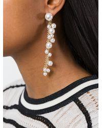 Lanvin - White Long Pearl Earrings - Lyst