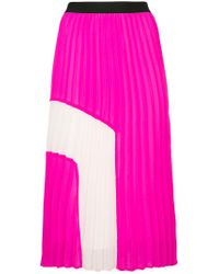 Essentiel Antwerp - Pink Perridon Pleated Skirt - Lyst