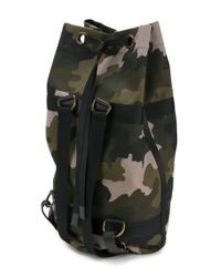 Tomas Maier - Green Camo Duffle Backpack for Men - Lyst