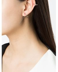 Charlotte Chesnais - Metallic Double Hoop Effect Earring - Lyst