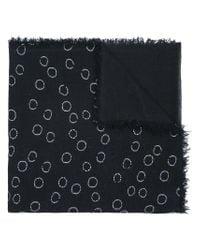 Ann Demeulemeester - Black Circle Print Scarf for Men - Lyst