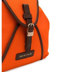 See By Chloé - Orange Foldover Top Satchel Bag - Lyst