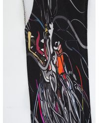 Rockins - Black Dragon Print Scarf - Lyst
