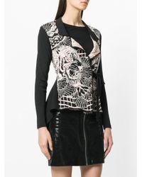 Just Cavalli - Black Belted Knit Jacket - Lyst