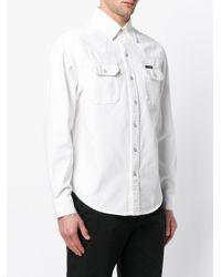 Calvin Klein Jeans - White Longsleeved Lapel Pockets Shirt for Men - Lyst