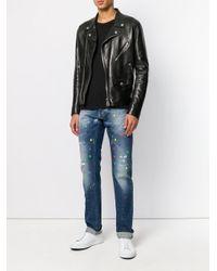 Philipp Plein Blue Paint Me Jeans for men