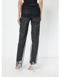 Y. Project - Gray Tulle-layered Trousers - Lyst