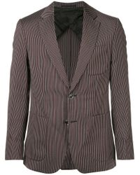 Cerruti 1881 - Gray Striped Single-breasted Blazer for Men - Lyst
