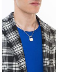 Lauren Klassen - Metallic Padlock Necklace - Lyst