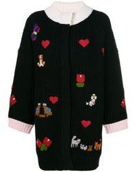 Vivetta - Black Embroidered Cardi-coat - Lyst