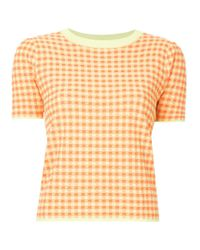 G.v.g.v Multicolor Gingham Check T-shirt