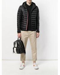 Moncler - Black Hooded Padded Jacket for Men - Lyst