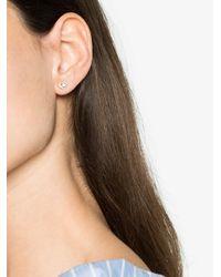 Rosa De La Cruz - Metallic Diamond Heart Single Stud Earring - Lyst