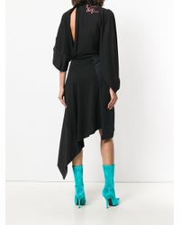 Balenciaga - Black Bal Asymmetric Dress - Lyst