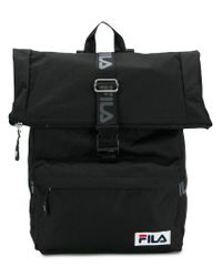 6f346a4146 Lyst - Fila Logo Buckled Backpack in Black