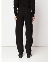 A Diciannoveventitre - Black Wide Leg Trousers for Men - Lyst