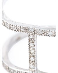 V Jewellery - Metallic 'spine' Ring - Lyst