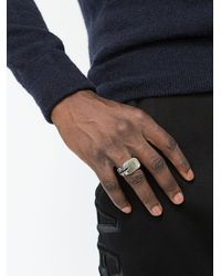 Tobias Wistisen - Metallic Anello Con Spaccatura for Men - Lyst