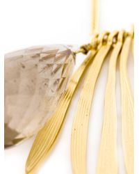 Wouters & Hendrix | Metallic 'bamboo' Rutilated Quartz Necklace | Lyst