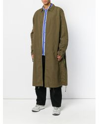 White Mountaineering - Green Oversized Long Coat for Men - Lyst